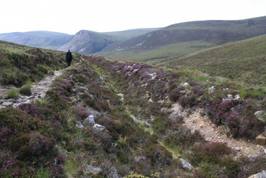 Walking through the valley on Hoy.